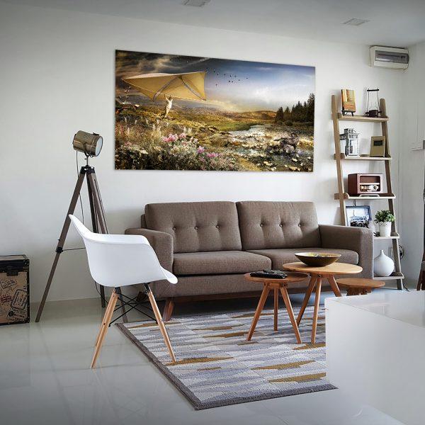 foto schilderij aan de muur